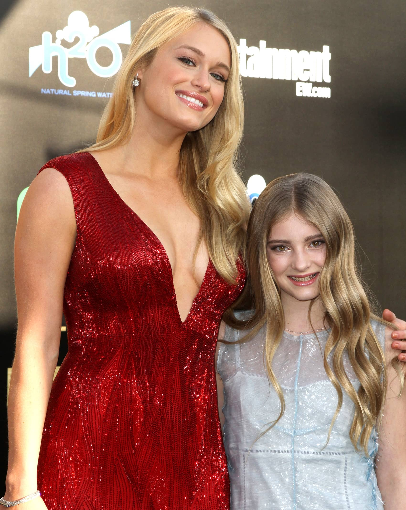 Leven Rambin and Willow Shields attend the premiere of The Hunger Games