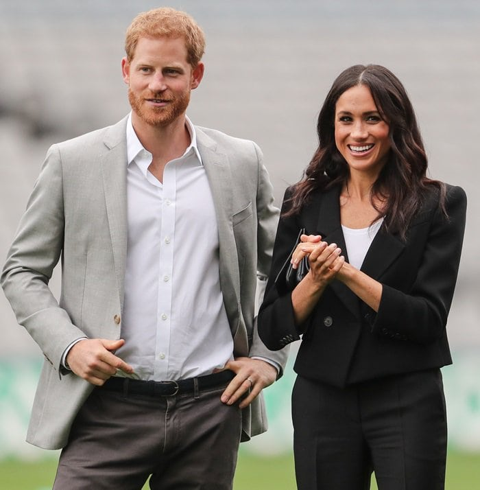 Duchess Meghan Markle and Prince Harry visit Croke Park, home of Ireland's largest sporting organization, the Gaelic Athletic Association, in Dublin, Ireland, on July 11, 2018