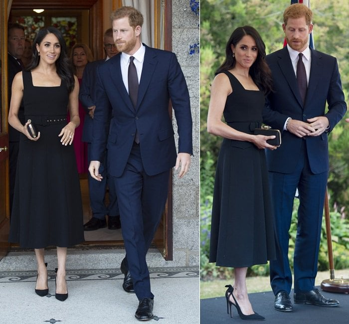 The Duke and Duchess of Sussex attend a Summer Party at Glencairn, the British Ambassadors residence, during their visit to Dublin on July 10, 2018