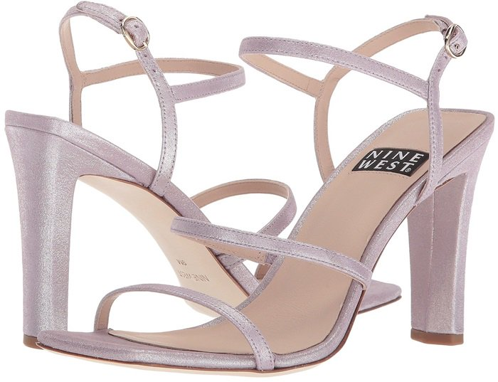 Nine West 40th Anniversary Capsule Collection Gabelle Sandals Light Purple