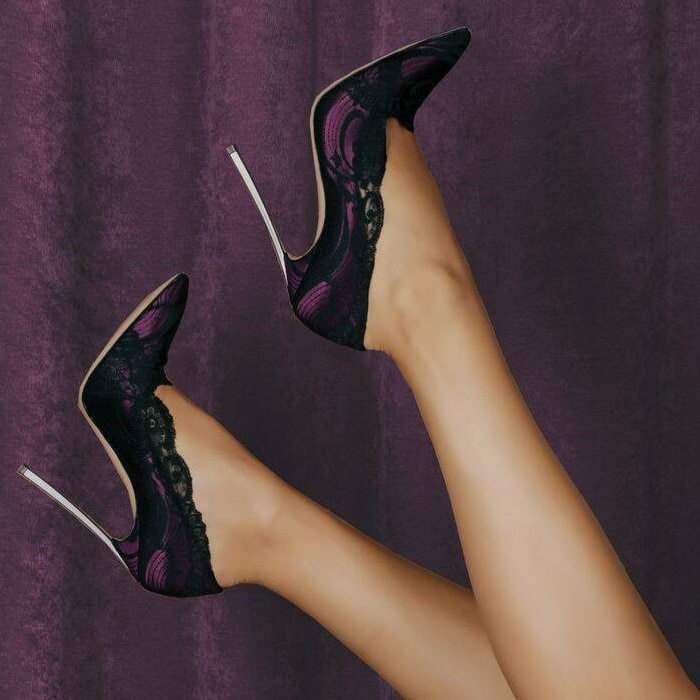 Plum Shade Blade Pumps