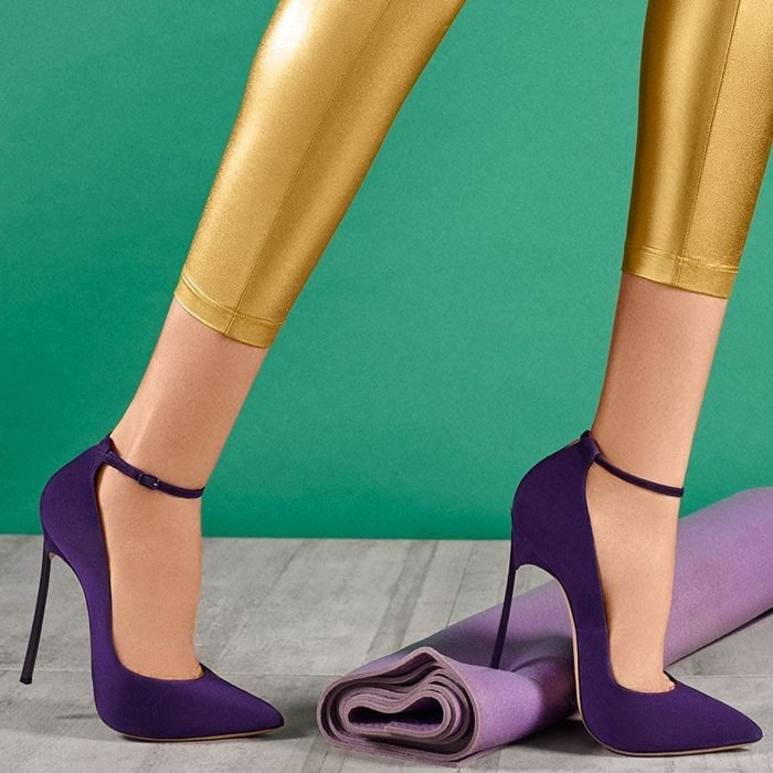 Timeless Purple 'Blade' Pumps