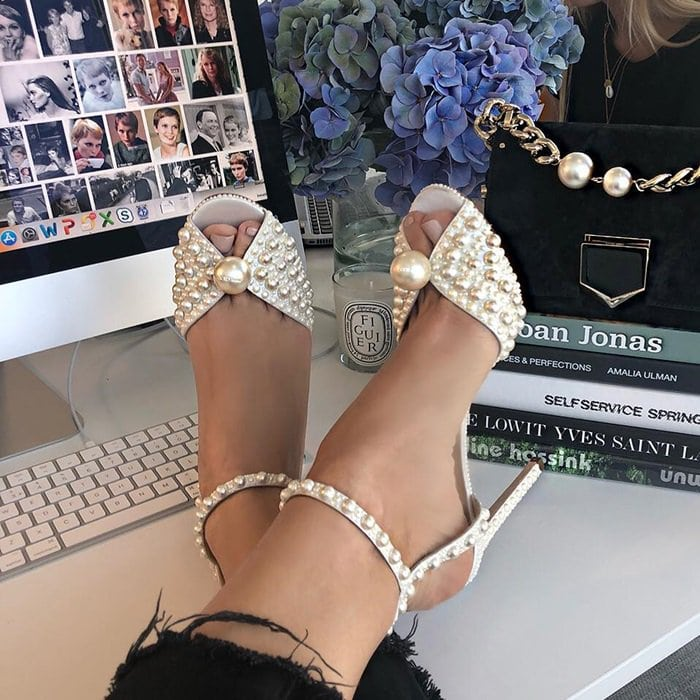 032efd83053 Unforgettable Sacora Imitation Pearl Sandals by Jimmy Choo