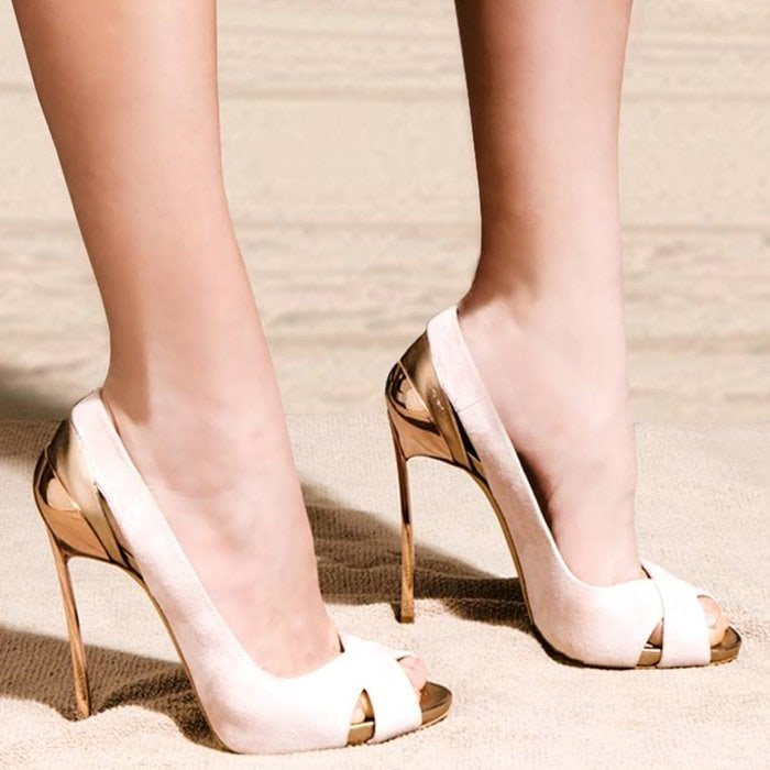 Pink Beach 'Techno Blade' Pumps