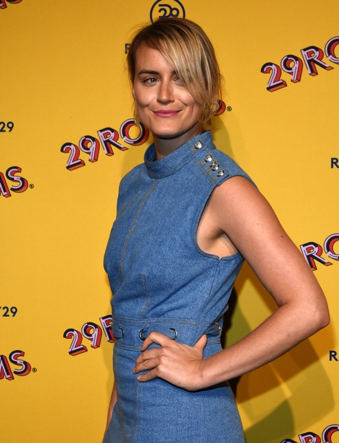 Taylor Schilling attending Refinery29′s opening night of 29Rooms: Turn it into Art in Chicago on July 25, 2018