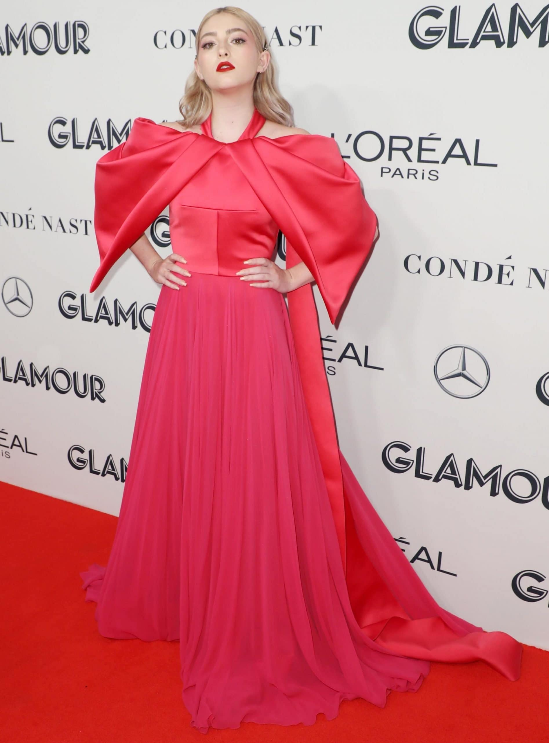 Willow Shields in a beautiful Bibhu Mohapatra dress at the 2019 Glamour Women Of The Year Awards