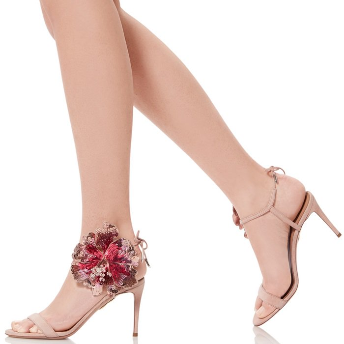 great prices arrives fashion styles Disco Flower Sandals and Pumps With Sequined Floral Appliqués