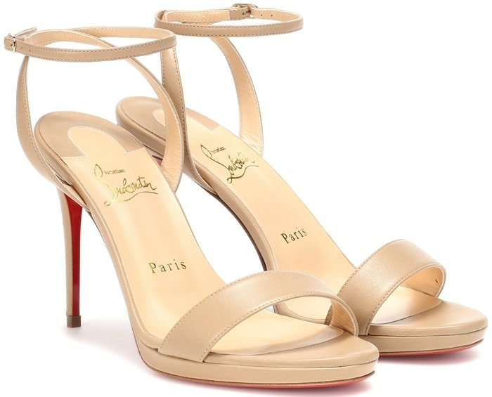 Christian Louboutin's 'Loubi Queen' sandals are so versatile - you can wear them with everything from evening dresses to cuffed denim
