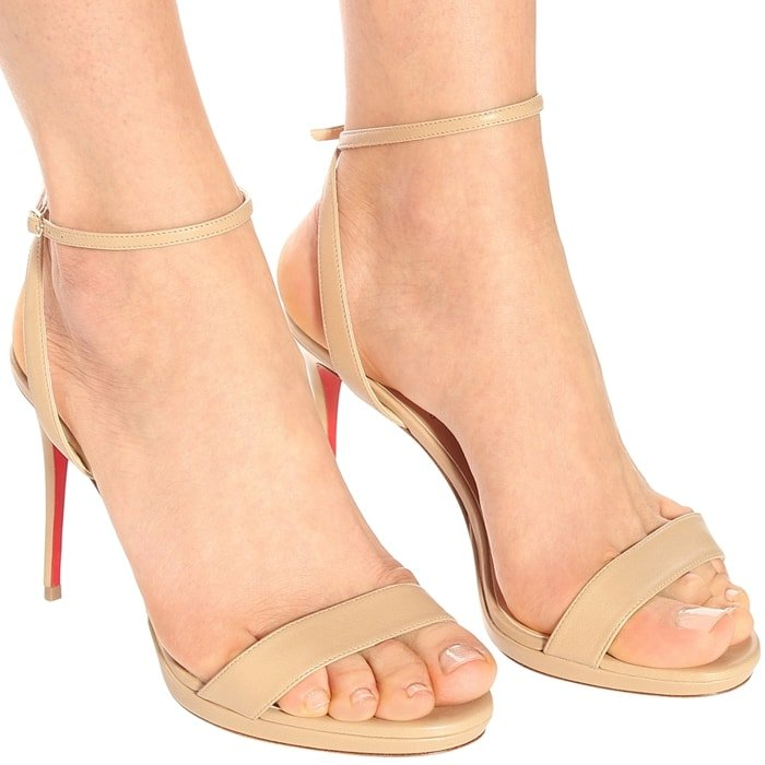 Christian Louboutin elevates sandals to sky-high heights in the Loubi Queen silhouette