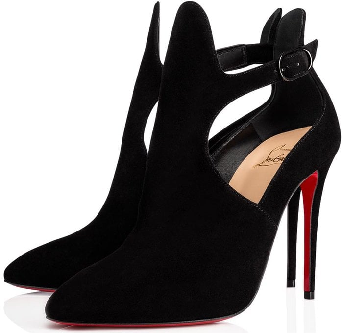 finest selection ce2b5 87724 Canadada Suede Cutout Red Sole Booties by Christian Louboutin