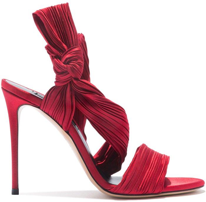 Red Scarlet Satin Sandals