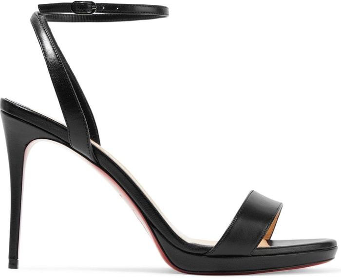 Black CHRISTIAN LOUBOUTINLoubi Queen 100 leather sandals