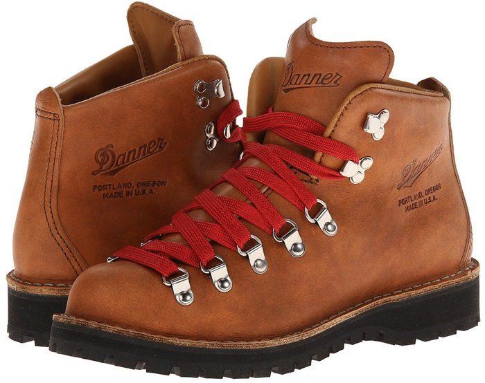 Made in Danner's factory in Portland, Oregon, it features a rich, full-grain leather upper and flat red laces