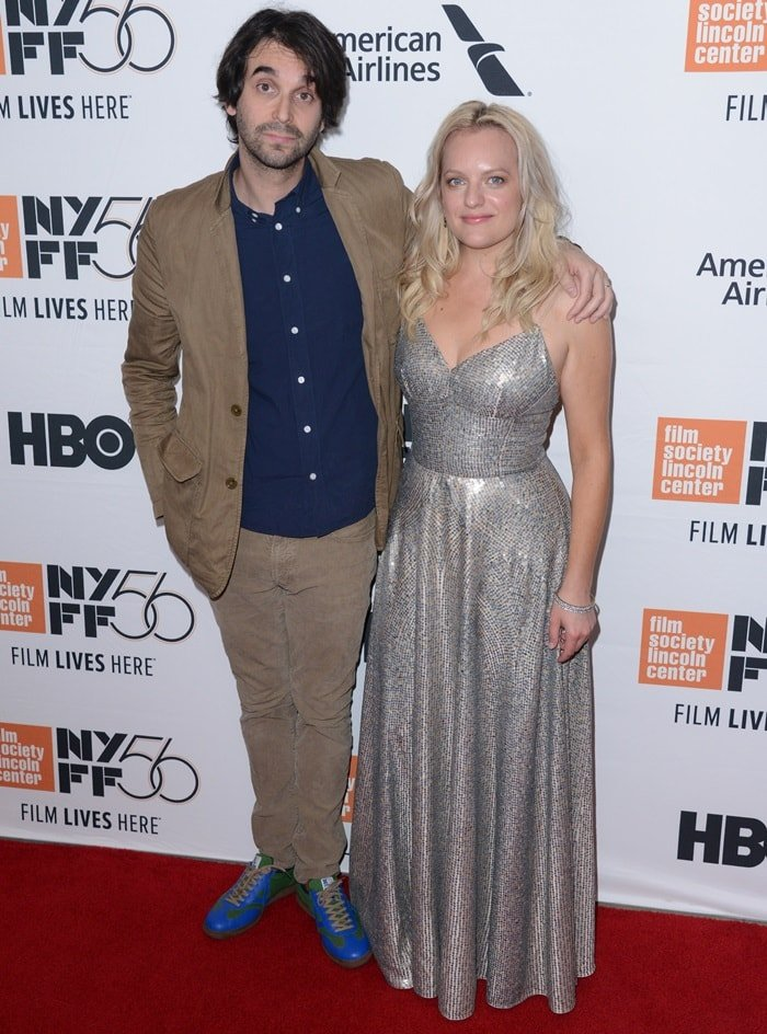 Alex Ross Perry and Elisabeth Moss at the premiere of Her Smell at the Alice Tull Hall at Lincoln Center in New York City on September 29, 2018