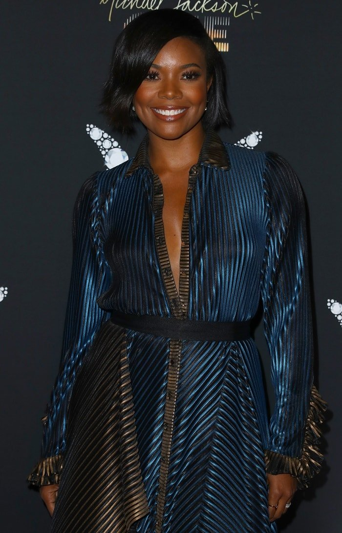 Gabrielle Union at the Michael Jackson Diamond Birthday Celebration at the Mandalay Bay Resort & Casino in Las Vegas on August 29, 2018