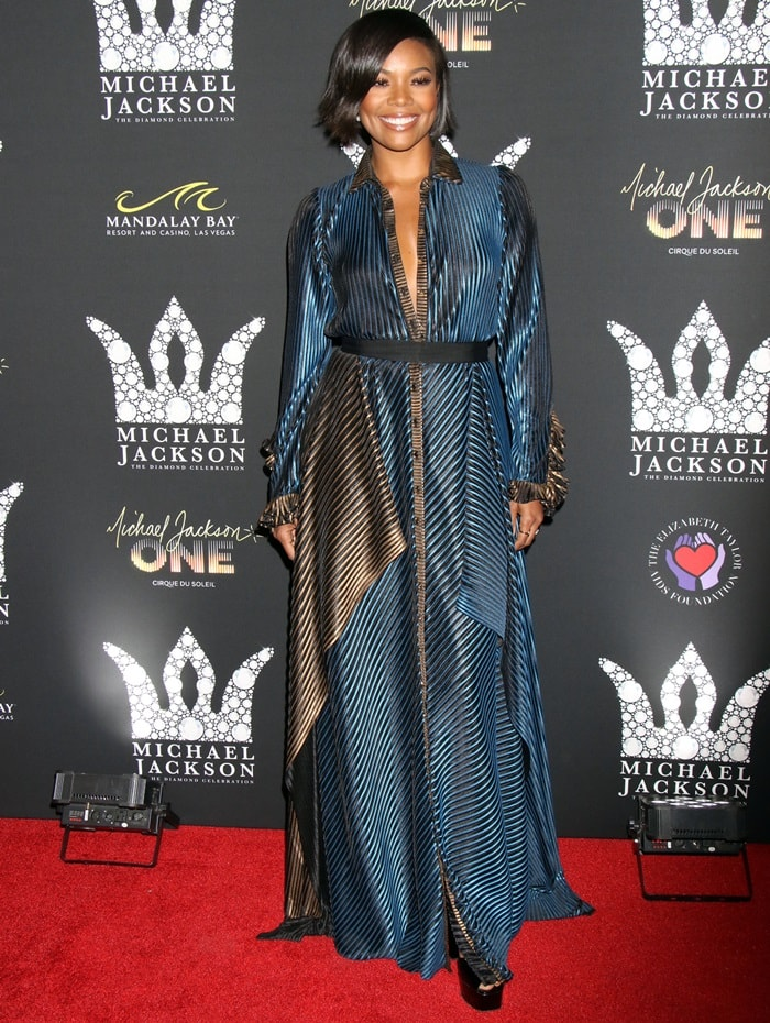 Gabrielle Union looking fantastic in a statement-making gown from the Abodi Fall 2017 Collection