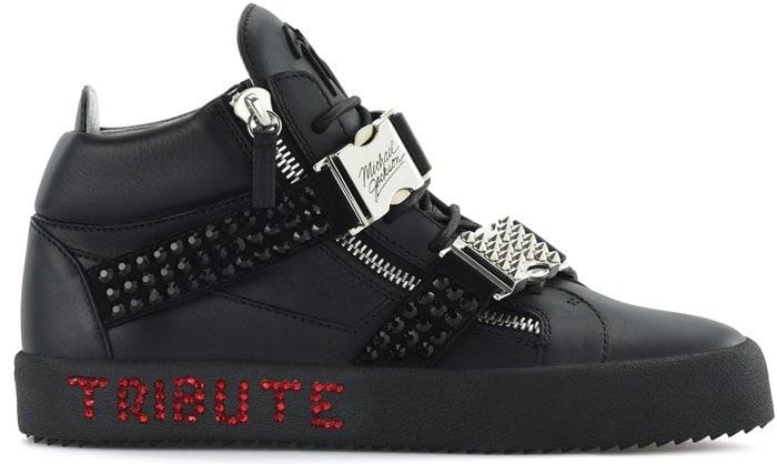 Black Giuseppe Tribute to Michael Jackson Sneakers