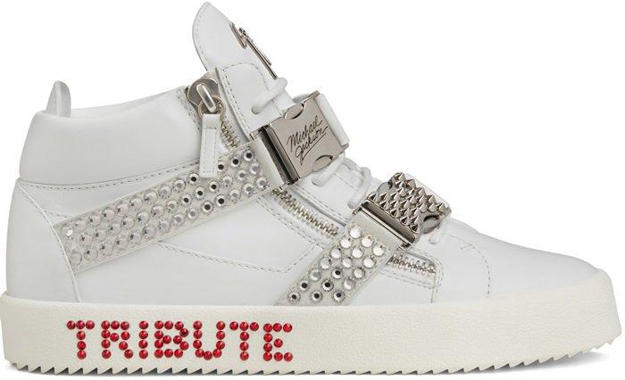 White Giuseppe Tribute to Michael Jackson Sneakers