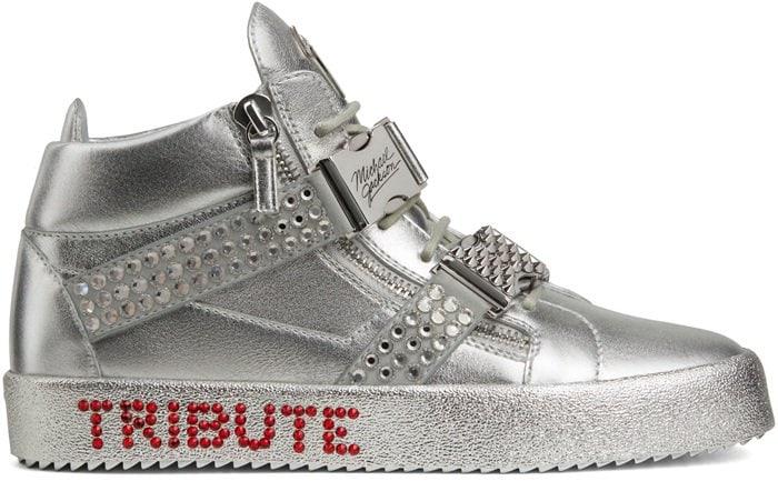 Silver Giuseppe Tribute to Michael Jackson Sneakers