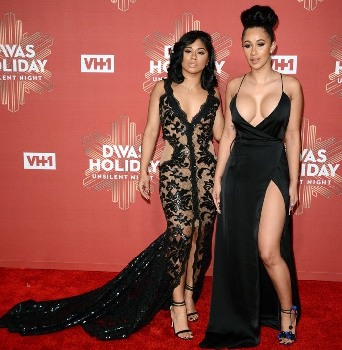 Hennessy (L) and Cardi B attend the 2016 VH1 Divas Holiday: Unsilent Night