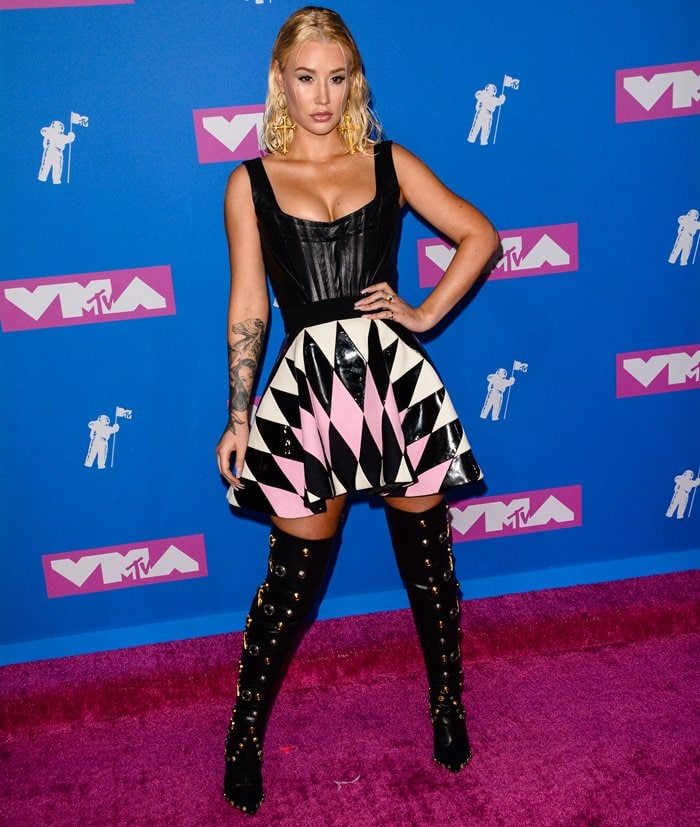 Iggy Azalea at the 2018 MTV Video Music Awards held at Radio City Music Hall in New York City on August 20, 2018