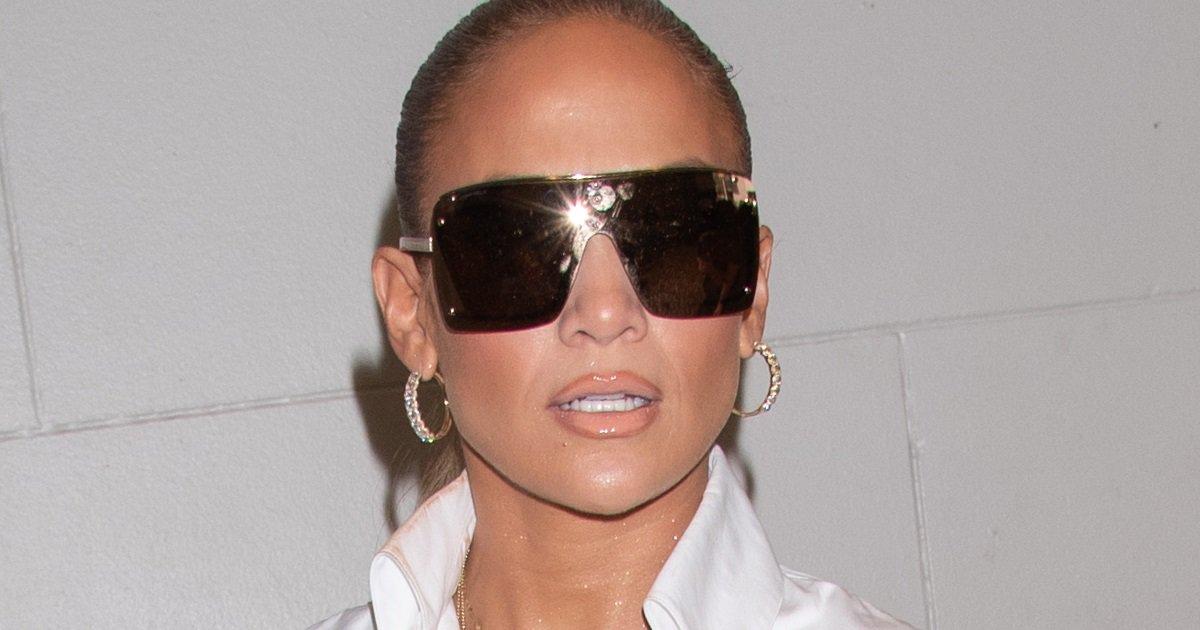 Jennifer Lopez Goes Pantless In Denim Versace Stella