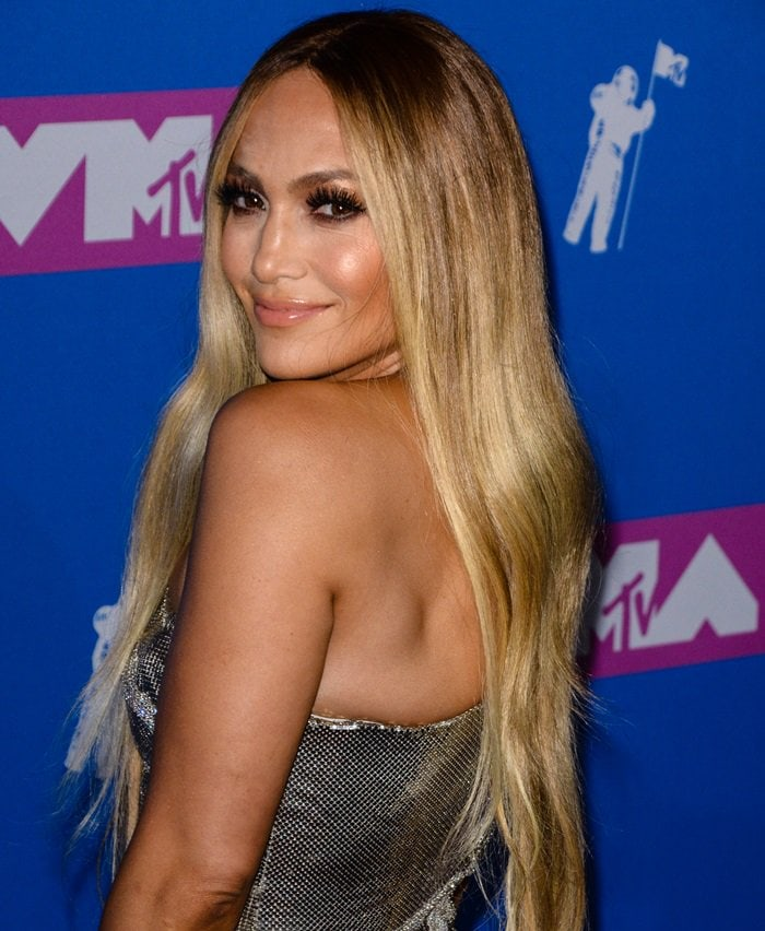 Jennifer Lopez at the 2018 MTV Video Music Awards held at Radio City Music Hall in New York City on August 20, 2018