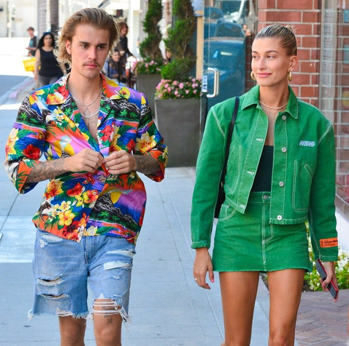 Justin Bieber and Hailey Baldwin visit the doctor's office in Beverly Hills on August 30, 2018