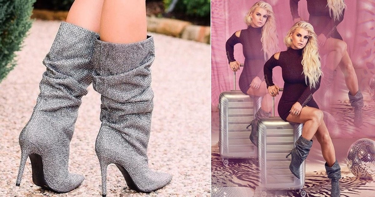 Layzer Embellished Slouch Boots By Jessica Simpson