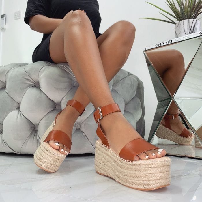 Melanie Lace Up Espadrille Flatforms