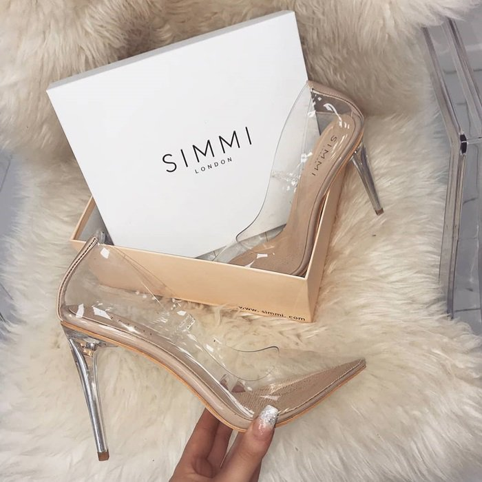 Neda Clear Stiletto Pumps