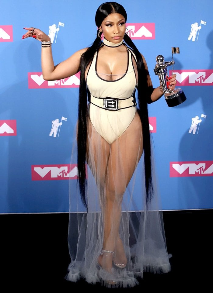 "Nicki Minaj won the award for Best Hip-Hop for her ""Chun-Li"" video"
