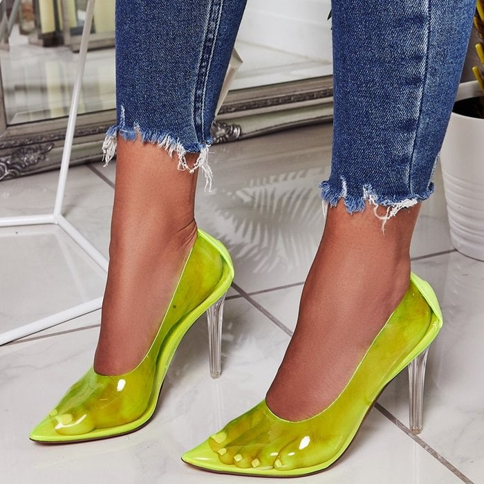 Nuclear Perspex Court Heels