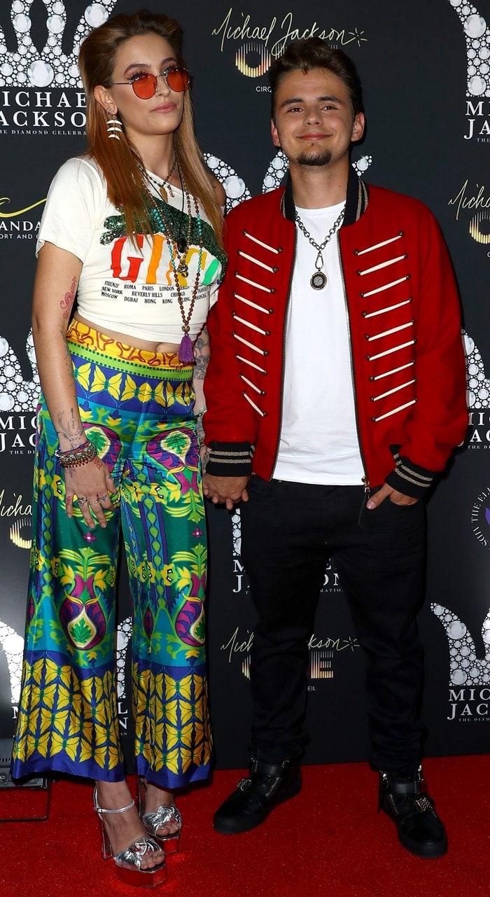 Paris Jackson and Prince Jacksonat the Michael Jackson Diamond Birthday Celebration at the Mandalay Bay Resort & Casino in Las Vegas on August 29, 2018