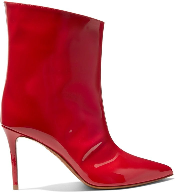 They've been made in Italy from bold red patent-leather and have a pin-thin 90mm heel