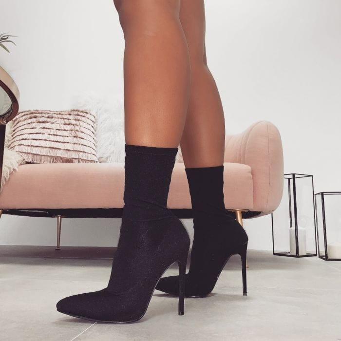 Tate Lycra Pointed Toe Ankle Boots
