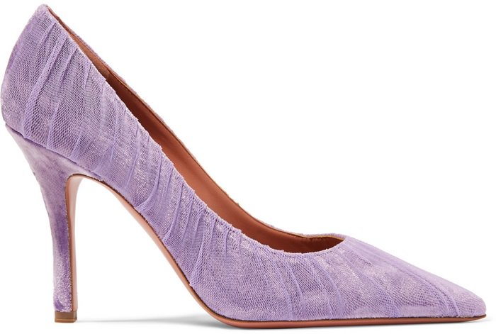 Lavender Thalia velvet and tulle pumps