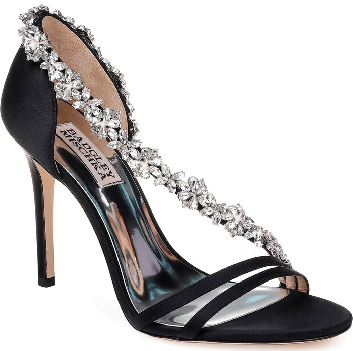 Voletta erystal embellished evening sandals from Badgley Mischka