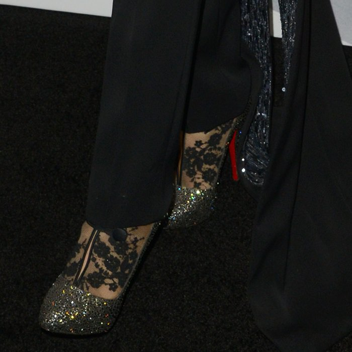 Blake Lively's Clic Clac lace booties from Christian Louboutin