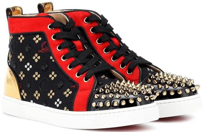 Christian Louboutin Lou Spikes Orlato Studded Sneakers