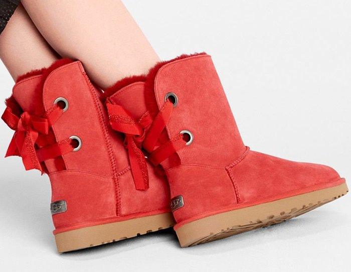 UGG Customizable Bailey Bow Short Boots in Red