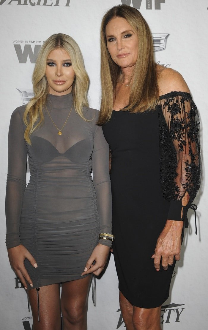 Sophia Hutchins and Caitlyn Jenner at the Variety and Women's Pre-Emmy Celebration at Cecconi's in West Hollywood, California, on September 15, 2018