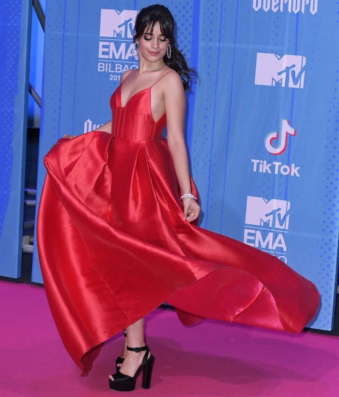Camila Cabello looks like royalty at the 2018 MTV Europe Music Awards (EMAs) held at the Bilbao Exhibition Centre in Bilbao, Spain, on November 4, 2018
