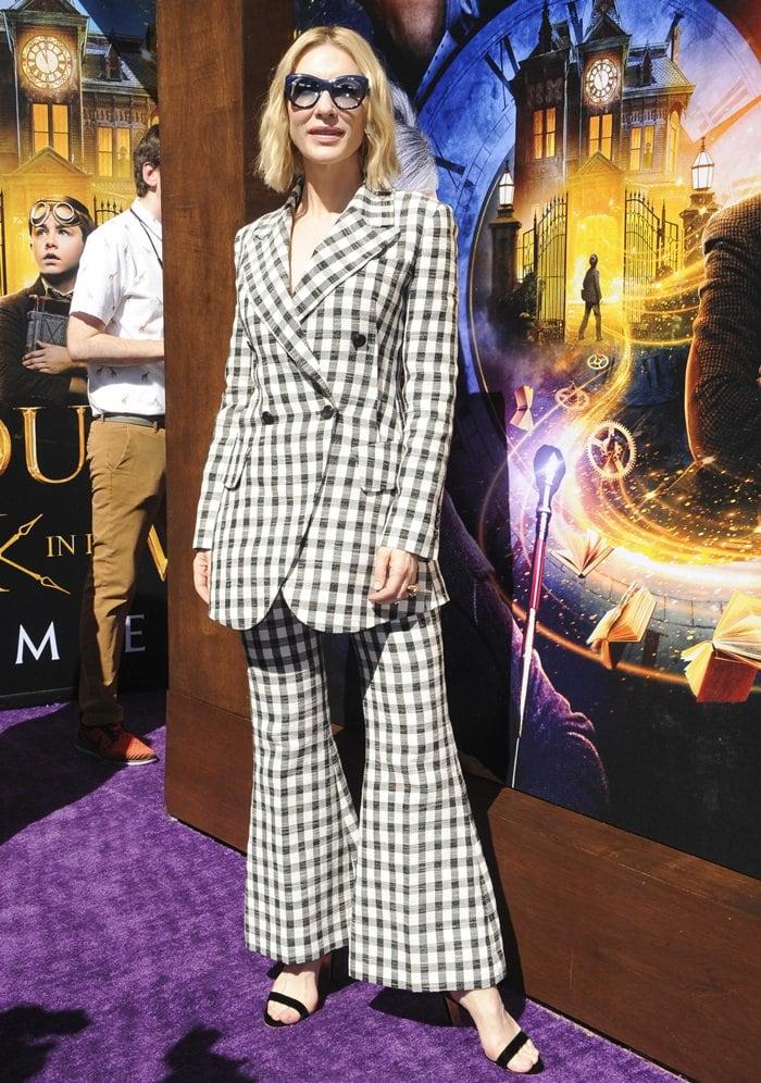 Cate Blanchett rocks Rupert Sanderson's Barri black block-heel sandals