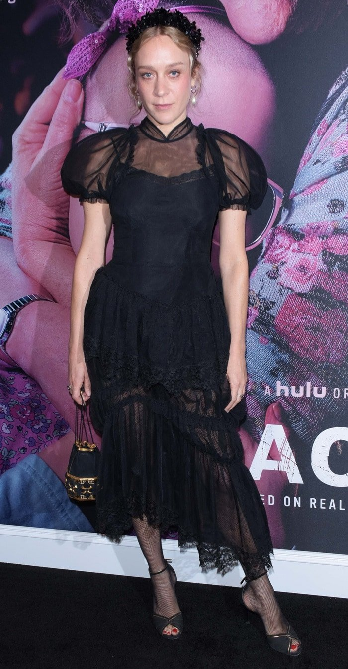 Chloë Stevens Sevigny at the premiere of her new Hulu series The Act
