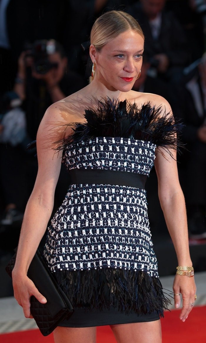 Chloe Sevigny at the premiere of At Eternity's Gate during the 2018 Venice Film Festival in Venice, Italy, on September 3, 2018