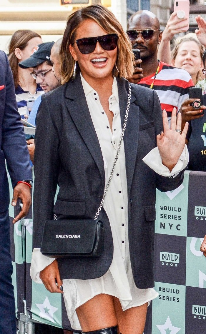Chrissy Teigen attends Build to promote Cravings: Hungry for More at Build Studio on September 19, 2018, in New York City