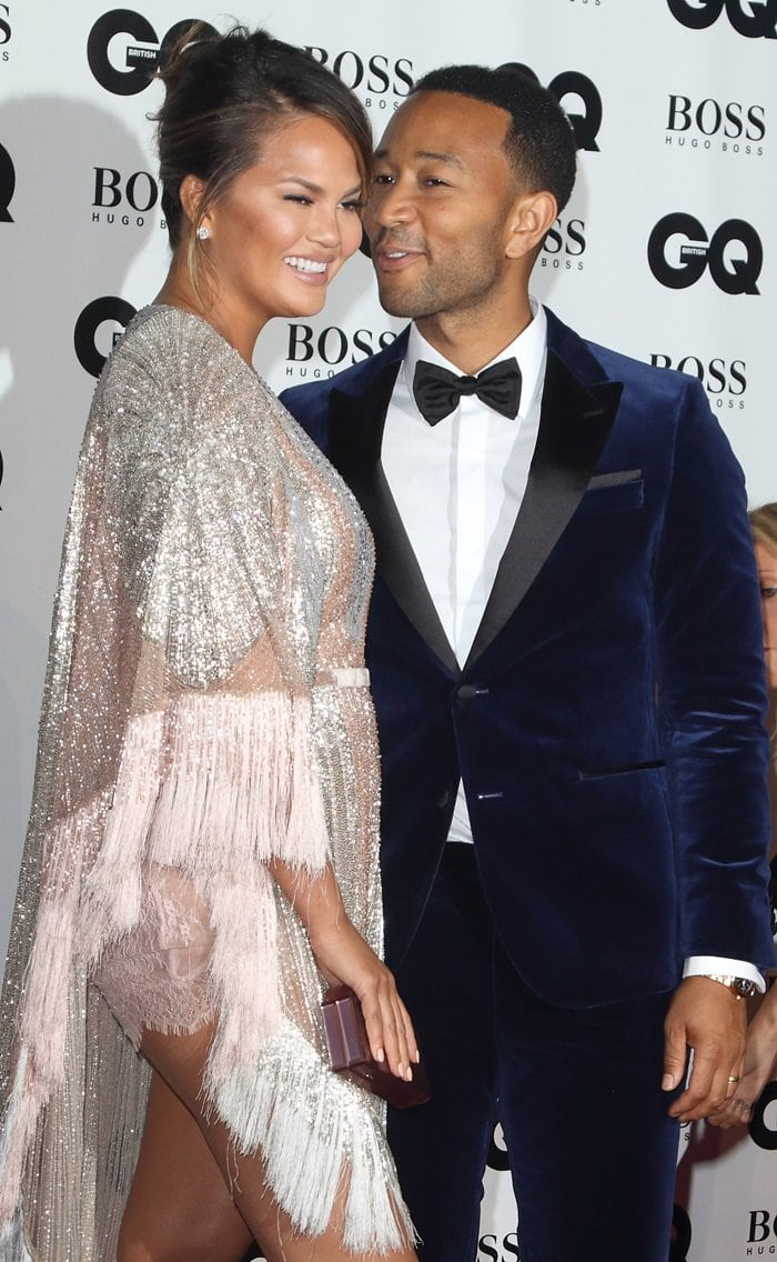 Chrissy Teigen and John Legend at the 2018 GQ Men of the Year Awards held at the Tate Modern in London, England, on September 5, 2018