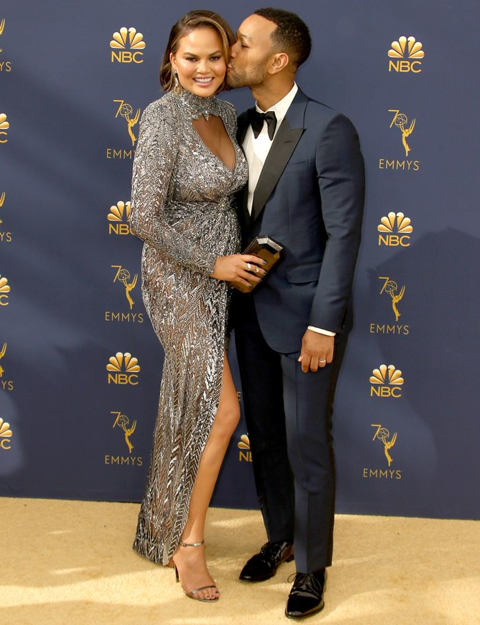 Chrissy Teigen and John Legendat the 2018 Emmy Awards held at the Microsoft Theater in Los Angeles on September 17, 2018