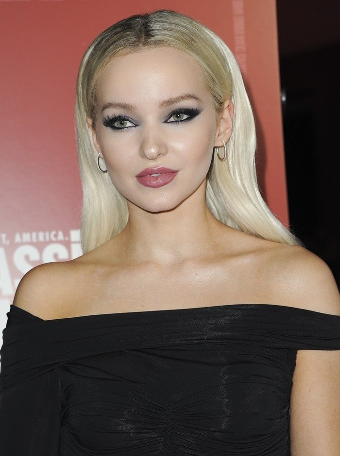 Dove Cameron at the premiere of Assassination Nation held at ArcLight Cinemas in Hollywood on September 12, 2018